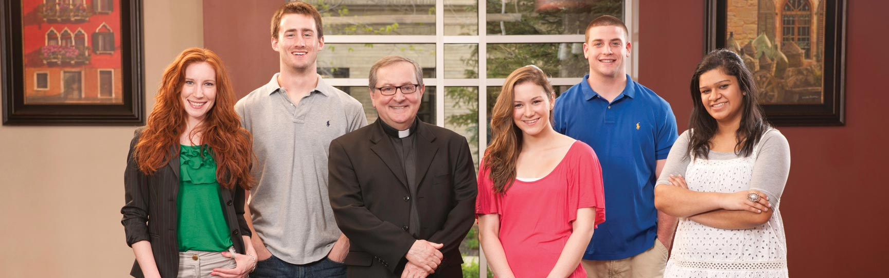 Fr Ryan with students